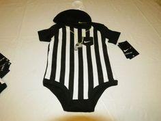 Nike 3-6 Months baby Boys 2 piece beanie bodysuit Referee 561773 023 black white #Nike