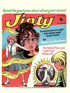 Jinty from Classic Comics 1970's Postcard Box Set.