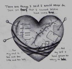 Super Drawing Triste Heartbroken Ideas rnrnSource by Sad Drawings, Art Drawings Sketches, Sad Sketches, Art Triste, Broken Heart Drawings, Broken Heart Pictures, Heart Break Drawings, Cool Heart Drawings, Sad Heart