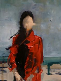 "Saatchi Art Artist Fanny Nushka Moreaux; Painting, ""October Wind at the Beach (SOLD)"" #art"