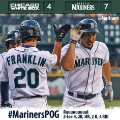 Rauuuuuuul powers #Mariners to 7-4 win over #WhiteSox 6/4/13
