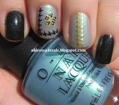Manicure Monday: Born Pretty 3D Nail Art Sticker Golden Stripe : http://ahleessa4realz.blogspot.com/2014/12/manicure-monday-born-pretty-3d-nail-art.html