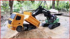 Trucks, Excavator, Dump Truck For Children | Dump Truck Crash And Excavator Rescue | Videos For Kids | Bored Panda