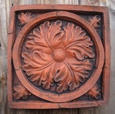 """Decorative brick wall tile """"Gothic Oak Leaf"""" copy of an antique decorative brick, usually found on period buildings as an architectural Brick Tiles, Brick Wall, Wall Tiles, Decorative Leaves, Decorative Boxes, Wire Hangers, Hand Cast, Wall Plaques, Architecture Details"""