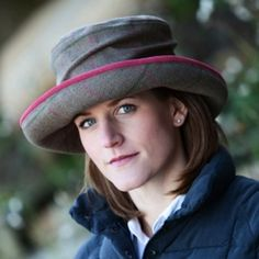 Hunters Tweed Ladies Olivia Hat in Callan Tweed A favorite with the ladies a wide brimmed hat trimmed with alcantara and a structured crown set on a