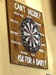 7bce1b7b Potbelly lets you throw a dart to choose what you will eat. Darts, Funny