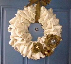 Burlap Wreath by elise