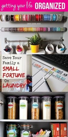 How to Get Organized. Simple DIY crafts for organizing your life!