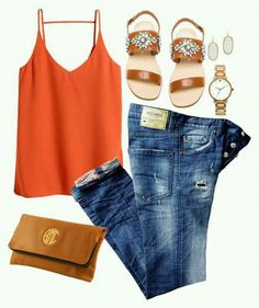 Love a bright colored top and a pair of dark jeans  #hellofashionista #hellosummer #getsummerready