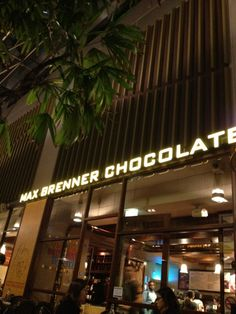 Max Brenner Chocolate Bar in Melbourne Central Shopping Centre!