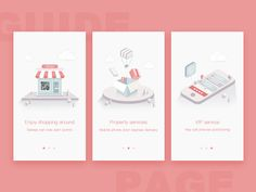 guide page by Aimee.W  #Design Popular #Dribbble #shots