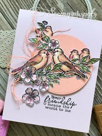 Tuesday's Indulgence for Monday Montage Free As a Bird Stamp Set, Stampin' Up! Handmade Greetings, Greeting Cards Handmade, Wink Of Stella, Stampin Up Catalog, Stamping Up Cards, Friendship Cards, Bird Cards, Flower Cards, Homemade Cards
