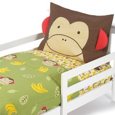 Skip Hop Toddler Bedding Set – Zoo Monkey (4-Piece) #giggle #toddler #cute