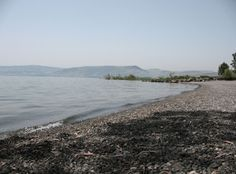 Shores of Galilee where Jesus walked after his resurrection, along the Primacy of Peter, Tabgha, Mensa Christi