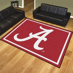 Nylon Alabama Crimson Tide Bama 8 x 10 Area Rug Carpet