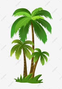Beach Background, Natural Background, Tree Clipart, Clipart Images, Cartoon Palm Tree, Coconut Vector, Family Tree Art, Tree Artwork, Summer Plants