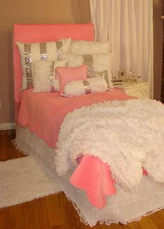 BEST BEDDING-------so beautiful in person! Tween/Teen Bedding | Glitz & Glamour Pink Bedding Collection -best