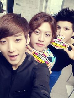 Kevin, Dongho and Kiseop on Show Champion