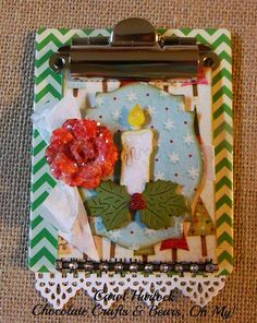 Carol Hurlock: Chocolate, Crafts and Bears, Oh MY! for CottageBLOG: CottageCutz Candle - 11/29/14.  (Dies: Candle).  (Pin#1:  Dies: Cottage Cutz.  Pin+: Christmas:  Stars/Candles).