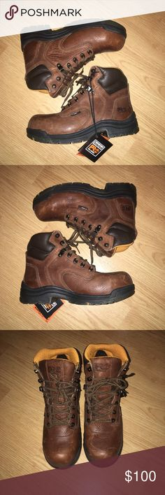 """Timberland Pro Series Women's Titan 6"""" Timberland Pro Series Women's Titan 6"""" safety toe. Color: coffee - 26388. Size 7.5 NWB. Never worn- only tried on. Timberland Shoes Combat & Moto Boots"""