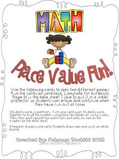 First Grade Fanatic!: Place Value