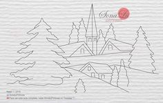 Simple Car Drawing, Car Drawings, Line Drawing, Decoupage, Diy And Crafts, Hair Accessories, Bullet Journal, Templates, Christmas