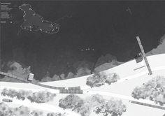 black white site plan with amazing water and land textures and foliage // GIAMPIERO SANGUIGNI, PIERLUIGI BARILE, FRANCESCA BORGIA, FRANCESCO FORNACIARI // Valorizzazione del percorso ciclo pedonale del lago di Varese // read on #europaconcorsi