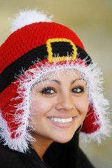 Santa Ski Beanie - Adults Custom Hat