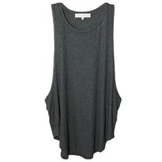Joah Brown Lazy Day Tank in Charcoal