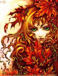 Manga Art | Autumn Spell by yuumei
