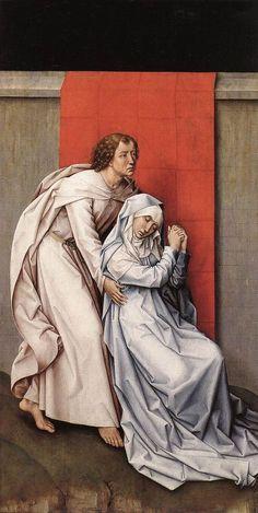 Rogier van der Weyden Crucifixion Diptych left panel