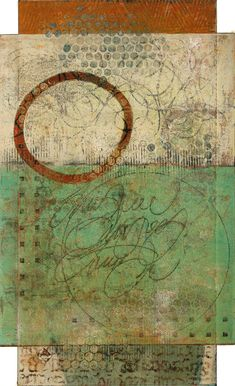 Practicing Presence by Anne Moore, monotype, Wax Art, Collage Art Mixed Media, Stamp Printing, Encaustic Art, Inspirational Wall Art, Art Graphique, Sculpture, Art Images, Printmaking