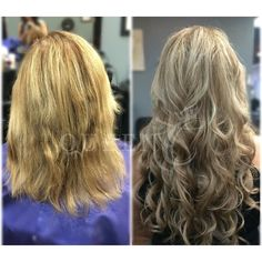 """We almost can't believe our eyes!!  Our new Royal Family member Traci has to have one of the best before & after shots yet!   Her new 18"""" - 140 grams Crown Jewels clip-in Extensions in """"Winter Beige Blonde"""" will be turning heads whenever she goes!   www.QueenCHair.com"""