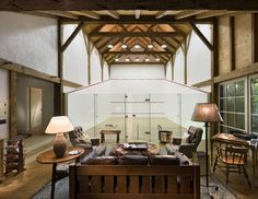 Squash barn on Martha's Vineyard by Robert A.M. Stern Architects, LLP