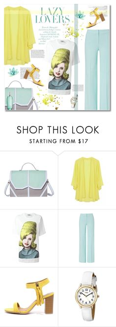"""""""beehive"""" by limass ❤ liked on Polyvore featuring Emeline Coates, Jeremy Scott, ESCADA, Qupid, Timex and Biotherm"""