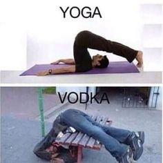 Yoga vodka image Image tagged in yoga vodka. Pin On Yoga And Vodka Funny Picture . Vodka Humor, Drunk Humor, Funny Jokes, Vodka Funny, Memes Humor, Funny Photos, Funny Images, Hilarious Pictures, Chistes
