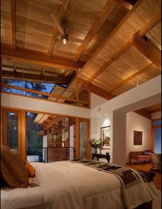 Timber Ceiling # Greenland Road Residence By Studio One Architects #  Vaulted Timber Ceiling Blends With