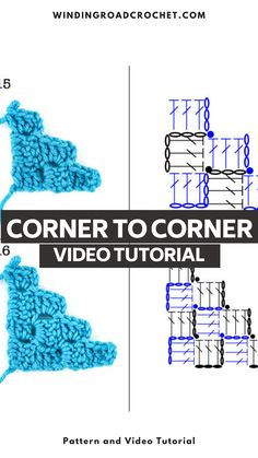 Learn to C2C crochet with this easy to follow video tutorial. Learn using both the video and charts.