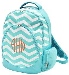 Cute Bookbags Bags Cheveron Pattern Bookbag With Monogram Backpack Personalized School Fashion