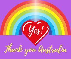 Thank you Australia ❤️🌈😄👍