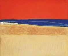 Srihadi Soedarsono (1931) Red Sky and Sandy Beach, 1971
