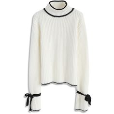 Chicwish The Way to Wonderland Sweater in White ($53) ❤ liked on Polyvore featuring tops, sweaters, white, white top and white sweater