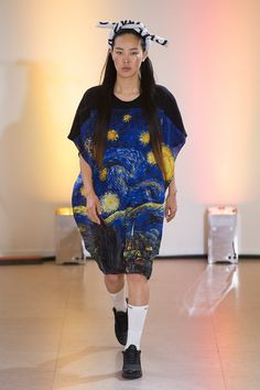 Great evening look for her, fashion and art coniscious. From Andrea Crews ss15 collection