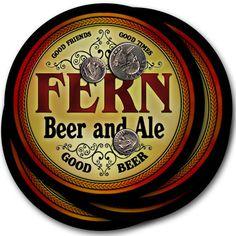 Beer Coasters 4pc Choose Name- Fern Mire Vass Zehr Damm Bonk Kelm Topp Issa Luft #ZuWEE #FathersDayBirthdayWeddingHousewarming