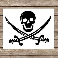 New to PrintzNThings on Etsy: Pirate SVG Skull and Crossed Swords SVG file for Electric Cutting Machines Pirate Flag Pirate Logo Pirate Symbol Pirate Sword Skull Sword USD) Pirate Sword, Pirate Skull, Pirate Symbols, Calico Jack, Jolly Roger, Svg Cuts, True Colors, Vinyl Decals, Cricut Vinyl