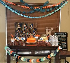 Aztec themed first birthday party: Tablescape