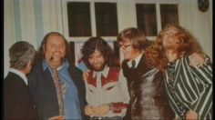 Page, Plant and Manager Peter Grant (blue shirt) with 2 others....