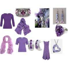 """Cool/True summer purple set"" by jelena1983 on Polyvore"
