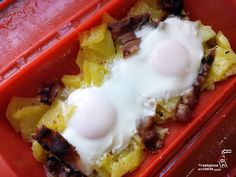 New Breakfast Potatoes Bacon Ideas Microwave Recipes, Desert Recipes, Creative Food, Easy Cooking, Quick Easy Meals, Love Food, Breakfast Recipes, Food Porn, Food And Drink