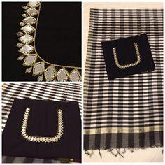 Mirror work Mirror Work Saree Blouse, Aari Work Blouse, Saree Blouse Patterns, Saree Blouse Designs, Kutch Work, Blouse Models, Soft Silk Sarees, Stone Work, Sleeve Designs